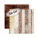 GCD Studios - Donna Salazar - Antiquities Collection - 12 x 12 Double Sided Die Cut Paper - Ribbons