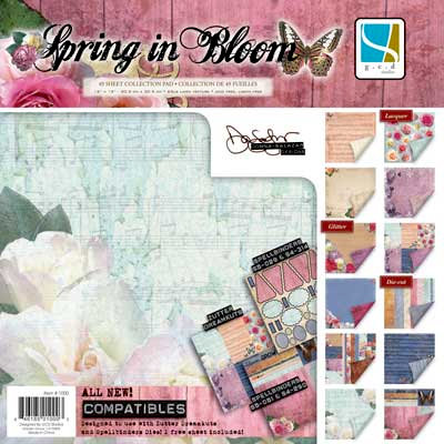 GCD Studios - Donna Salazar - Spring in Bloom Collection - 12 x 12 Paper Pad