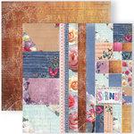GCD Studios - Donna Salazar - Spring in Bloom Collection - 12 x 12 Double Sided Paper - Tags, Ribbons and Mosaics