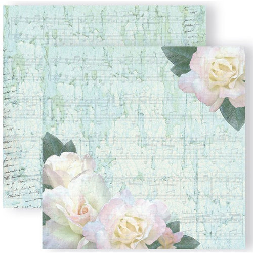 GCD Studios - Donna Salazar - Spring in Bloom Collection - 12 x 12 Double Sided Paper - White Roses