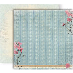 GCD Studios - Donna Salazar - Botanique Collection - 12 x 12 Double Sided Paper - Grandmas Pearls