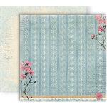 GCD Studios - Donna Salazar - Botanique Collection - 12 x 12 Double Sided Paper - Grandmas Pearls