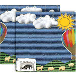 GCD Studios - Donna Salazar - Storybook Collection - 12 x 12 Double Sided Paper - Animal Crackers