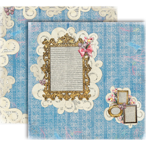 GCD Studios - Donna Salazar - Storybook Collection - 12 x 12 Double Sided Paper - Scribbles