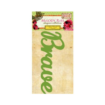 GCD Studios - Melody Ross - Soul Food Collection - Glitter Chipboard Word Stickers - Brave