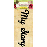 GCD Studios - Melody Ross - Soul Food Collection - Glitter Chipboard Word Stickers - My Story
