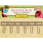 GCD Studios - Melody Ross - Soul Food Collection - Glass Paper Clips - Rectangle