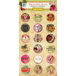 GCD Studios - Melody Ross - Soul Food Collection - Chipboard Stickers with Glitter Accents - Circles