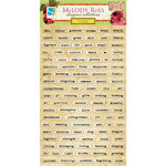 GCD Studios - Melody Ross - Soul Food Collection - Chipboard Stickers - Words - Plain