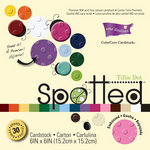 Core'dinations - Spotted Collection - 6 x 6 Color Core Embossed Cardstock Pack - Tillie Dot