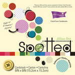 Core'dinations - Spotted Collection - 6 x 6 Color Core Embossed Cardstock Pack - Jillian Dot