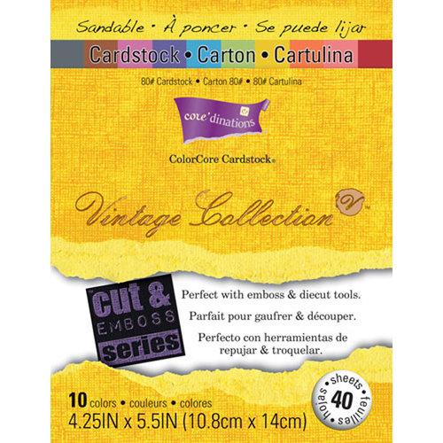Core'dinations - Vintage - 4.25 x 5.5 Color Core Cardstock Pack - Retro Mod Squad