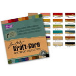 Core'dinations - Tim Holtz - Nostalgic Collection - 12 x 12 Textured Kraft Core Cardstock Pack