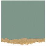 Core'dinations - Tim Holtz - Nostalgic Collection - 12 x 12 Textured Kraft Core Cardstock - Sea Blue