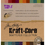 Core'dinations - Tim Holtz - Shattered Collection - 12 x 12 Textured Kraft Core Cardstock Pack