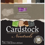 Core'dinations - Neutrals - 12 x 12 Textured Color Core Cardstock Pack