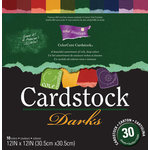 Core'dinations - Darks - 12 x 12 Textured Color Core Cardstock Pack