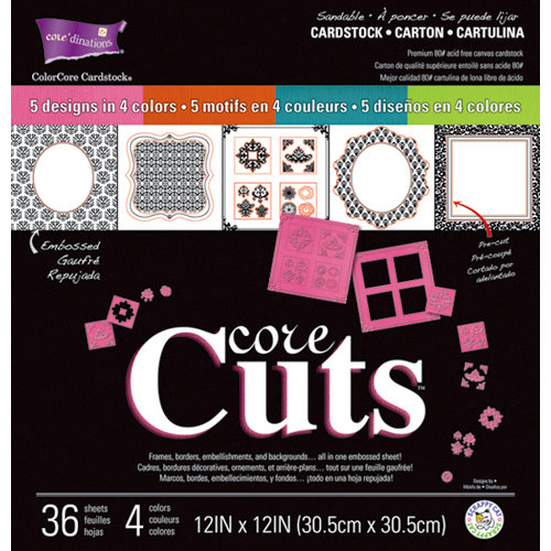 Core'dinations - Core Cuts - 12 x 12 Die Cut Color Core Cardstock