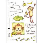 Inky Antics - HoneyPOP Collection - Clear Acrylic Stamps - Monkey Set