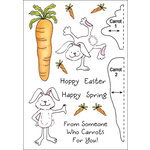 Inky Antics - HoneyPOP Collection - Clear Acrylic Stamps - Carrot Bunny Set