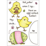 Inky Antics - HoneyPOP Collection - Clear Acrylic Stamps - Easter Chick Set