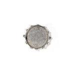 Art Mechanique - Ice Resin - Mixed Metal Bezels - Bronze Plated - Hobnail Round - Medium