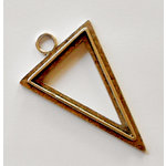 Art Mechanique - Ice Resin - Mixed Metal Bezels - Bronze Plated - Raised Triangle - Large