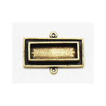 Art Mechanique - Ice Resin - Mixed Metal Bezels - Bronze Plated - Raised Rectangle