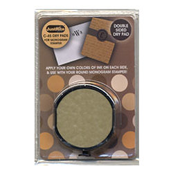 JustRite - Doublesided Dry Pad for the Monogram Stamper - Round