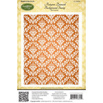 JustRite - Cling Mounted Rubber Stamps - Autumn Damask Background