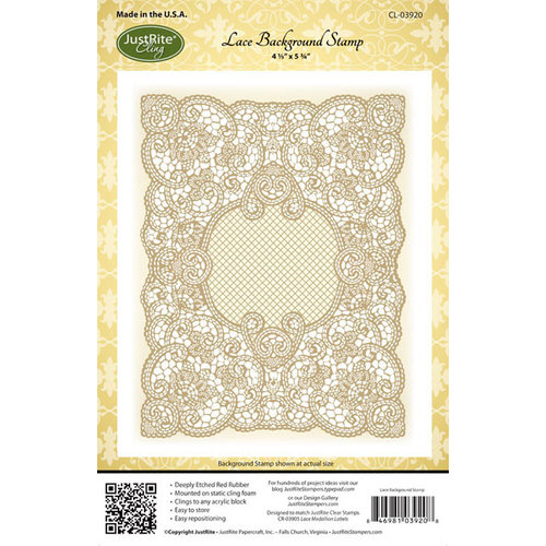 JustRite - Cling Mounted Rubber Stamps - Lace Background