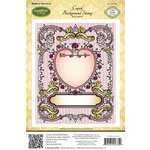 JustRite - Cling Mounted Rubber Stamps - Cupid Background