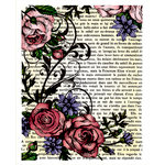 JustRite - Cling Mounted Rubber Stamps - French Roses Background