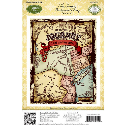 JustRite - Cling Mounted Rubber Stamps - The Journey Cling Background