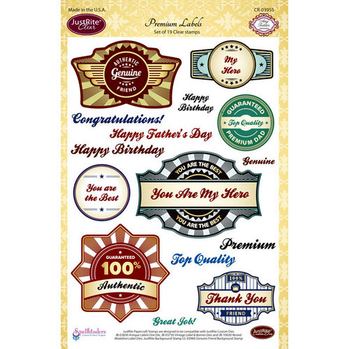 JustRite - Clear Acrylic Stamps - Premium Labels