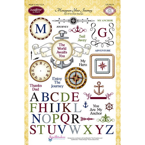 JustRite - Clear Acrylic Stamps - Monogram Your Journey