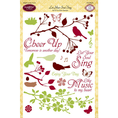 JustRite - Clear Acrylic Stamps - Let Your Soul Sing