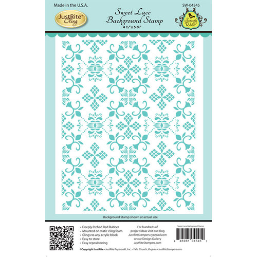JustRite - Cling Mounted Rubber Stamps - Sweet Lace Background