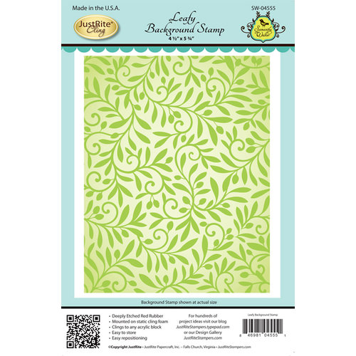 JustRite - Cling Mounted Rubber Stamps - Leafy Background
