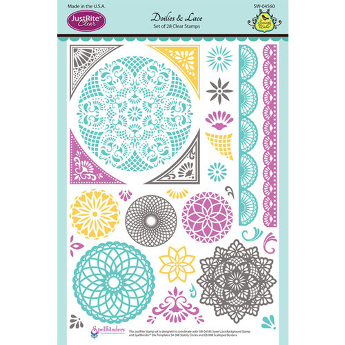 JustRite - Clear Acrylic Stamps - Doilies and Lace