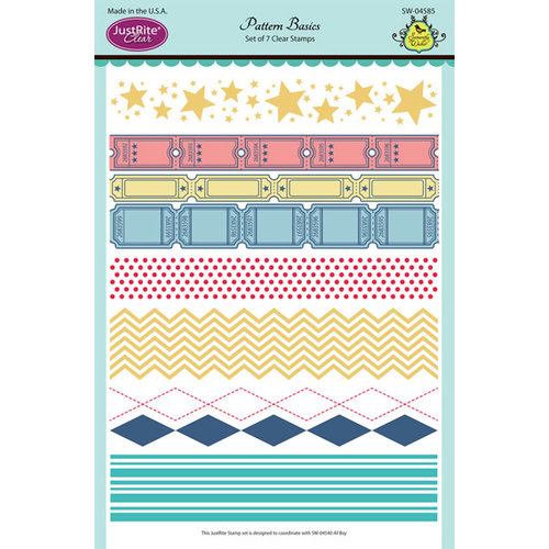 JustRite - Clear Acrylic Stamps - Pattern Basics