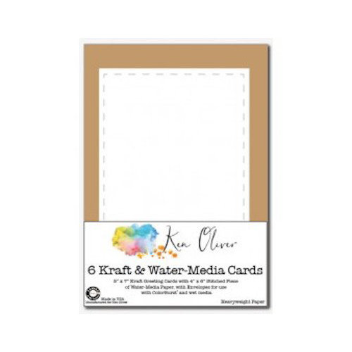 Canvas Corp - Ken Oliver - Water Media Collection - Greeting Cards with Envelopes - Stitched