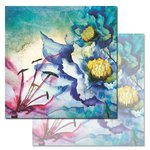 Ken Oliver - Watercolored Memories Collection - 12 x 12 Double Sided Paper - Anemone
