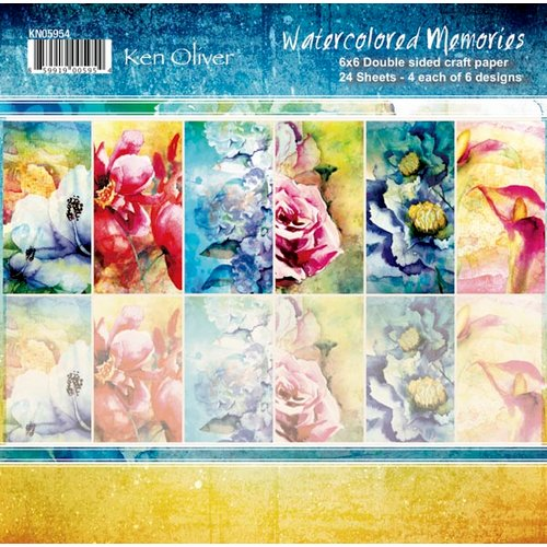 Ken Oliver - Watercolored Memories Collection - 6 x 6 Paper Pack