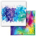 Ken Oliver - Color Burst Splash Collection - 12 x 12 Double Sided Paper - Splatter