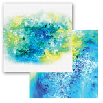 Ken Oliver - Color Burst Splash Collection - 12 x 12 Double Sided Paper - Spray