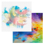 Ken Oliver - Color Burst Splash Collection - 12 x 12 Double Sided Paper - Aurora