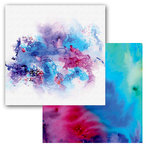 Ken Oliver - Color Burst Splash Collection - 12 x 12 Double Sided Paper - Nebulous