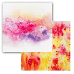 Ken Oliver - Color Burst Splash Collection - 12 x 12 Double Sided Paper - Swirl