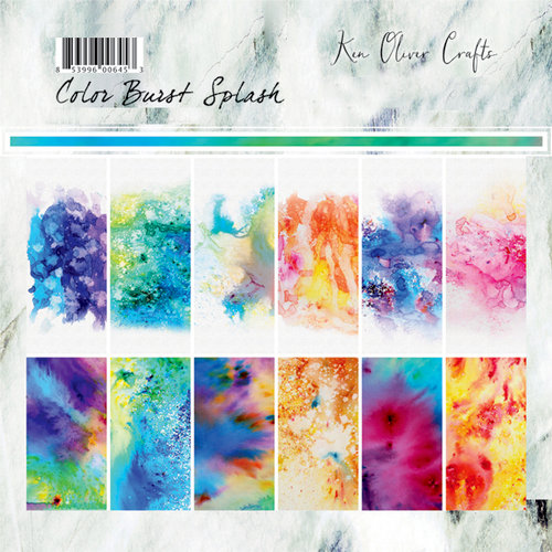 Ken Oliver - Color Burst Splash Collection - 6 x 6 Collection Pack